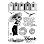 Beside The Seaside Red Rubber Stamp