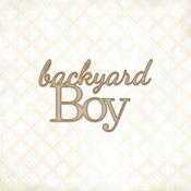 Backyard Boy Chipboard Words - Blue Fern