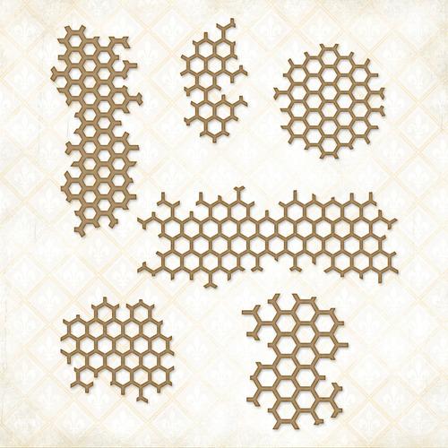 Bits Of Honey Chipboard - Blue Fern
