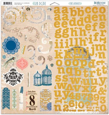 The Avenues 12 x 12 Chipboard Stickers - Bo Bunny