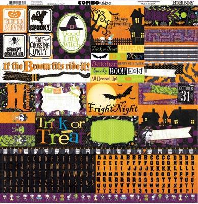 Fright Delight Combo Sticker Sheet - Bo Bunny