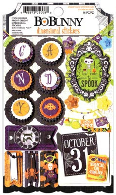 Fright Delight Layered Cardstock Stickers - Bo Bunny