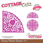 Fancy Floral Corner #1 Elites Die - Cottage Cutz