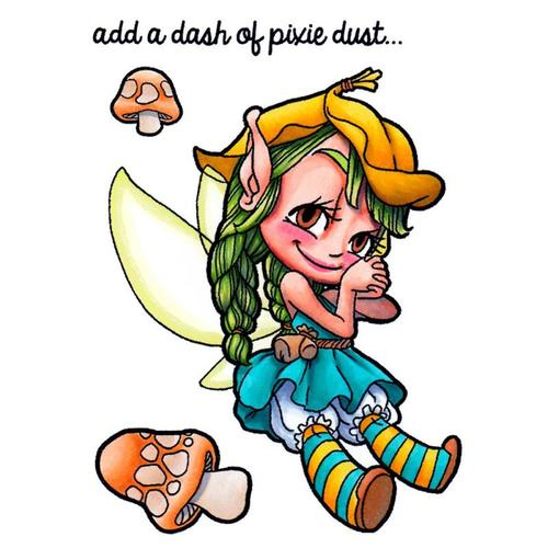 Pixie Dust Clear Stamp - Some Odd Girl