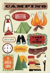 I'd Rather Be Camping Cardstock Stickers - Karen Foster
