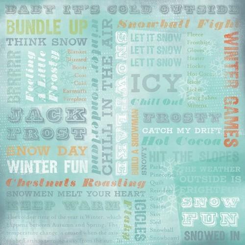 Winter Wonderland Collage Paper