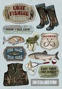Wishin' I Was Fishin' Cardstock Stickers - Karen Foster