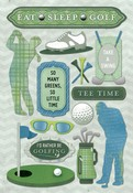 Eat, Sleep, Golf Cardstock Stickers - Karen Foster