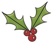 Holly Colors of Christmas Snag 'em Stamp - Imaginisce