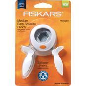 Hexagon Medium Squeeze Punch - Fiskars