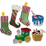 Colorful Stockings And Toys - Jolee's Boutique