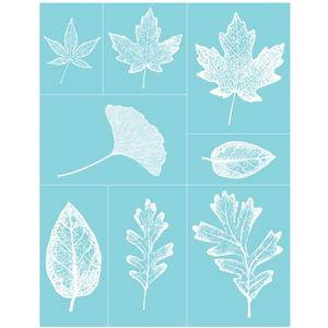 Leaves Glass Silkscreen - Martha Stewart Crafts