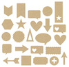 Cut & Paste Adhesive Chipboard - Amy Tangerine
