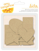 Cut & Paste Adhesive Chipboard - Amy Tangerine