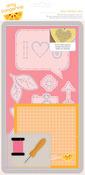 Hello Embroidery Stencil Kit - Cut & Paste - Amy Tangerine