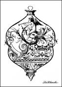 Intricate Glass Ornament Silicone Stamp - La Blanche