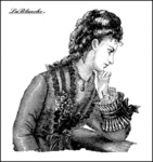 Thoughtful Lady Silicone Stamp - La Blanche