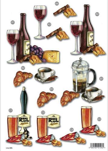 Drinks Die Cut Decoupage Sheet