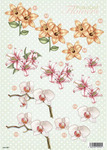 Lilies & Apple Blossom Flowers Die Cut 987 Decoupage Sheet