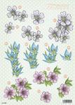Daisy & Snowdrop Flowers Die Cut 989 Decoupage Sheet