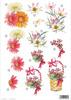 Gerbera Daisy Basket Floral Die Cut 119 Decoupage Sheet