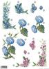 Morning Glories & Daisy Floral Die Cut 125 Decoupage Sheet