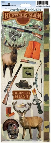 Hunting Season Cardstock Stickers - Paper House