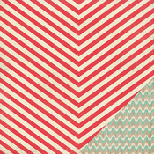 Candy Cane Paper - Bundled Up - Crate Paper