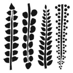 Four Ferns 6 x 6 Template - Crafters Workshop