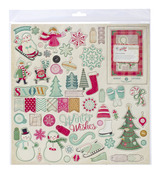 Bundled Up 12 x 12 Chipboard Stickers - Crate Paper