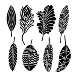 Fancy Feathers 6 x 6 Template - Crafters Workshop