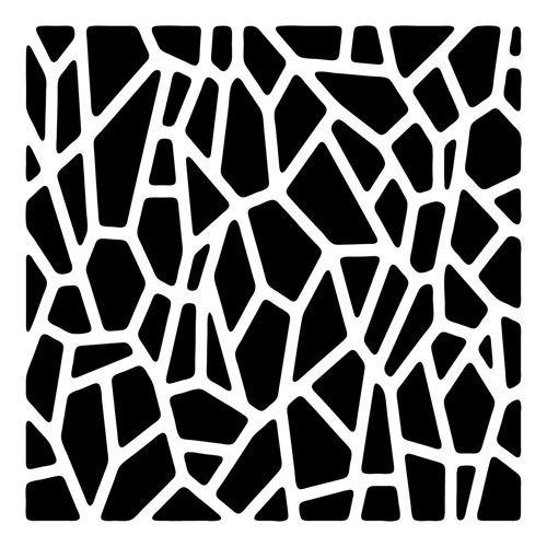 Giraffe Print 6 x 6 Template - Crafters Workshop