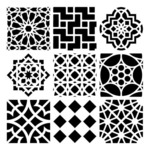 Moroccan Tiles 12 x 12 Template - Crafters Workshop