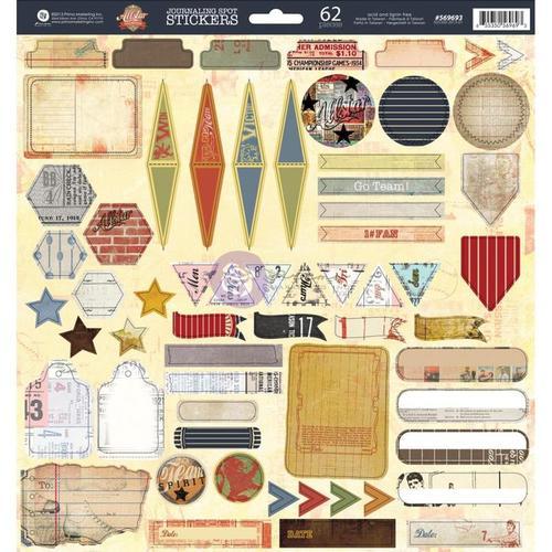 Allstar Journal Spot 12 x 12 Sticker Sheet - Prima