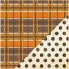 Old Wool Blanket/Ledger Dot Paper - Autumn Harvest - Bazzill
