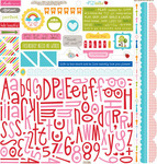Play Date Alpha Bits Cardstock Stickers - Bella Blvd
