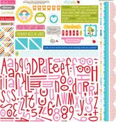 Play Date Alpha Bits Cardstock Stickers - Bella Blvd