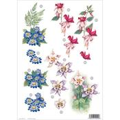 Columbine Die - Cut Decoupage Sheet