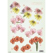 Orchids & More Die - Cut Decoupage Sheet