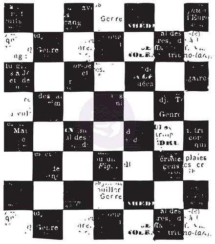 Checkered Clear Stamp - Vintage Vanity - Finnabair - Prima