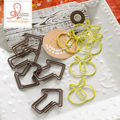 Family Traditions Apple & Arrow Paper Clips - Websters Pages