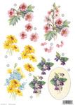 Daisies & Violets Die Cut Decoupage Sheet