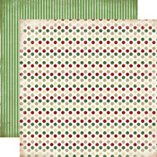 Christmas Dots Paper - So This Is Christmas - Carta Bella