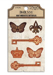 Kraft Wood Keys & Butterflies - Bo Bunny