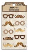 Kraft Wood Mustaches - Bo Bunny