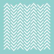 Chevron 12 x 12 Template - KaiserCraft