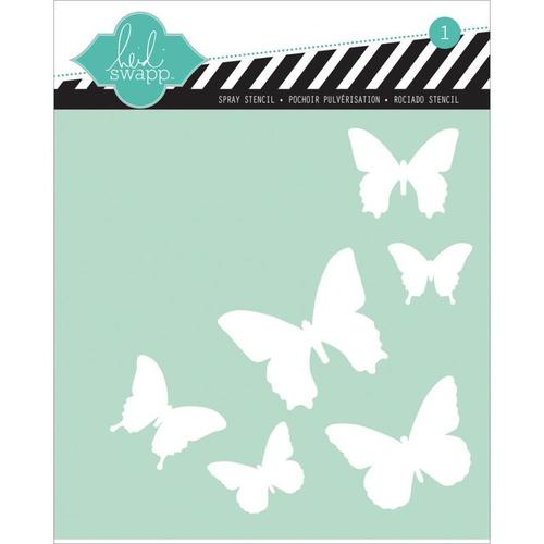 Butterfly 6 x 6 Stencil - Heidi Swapp