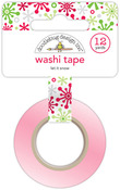 Let It Snow Washi Tape - Home For The Holidays - Doodlebug