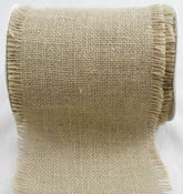 Natural Jute Burlap - 4in x 10 Yards
