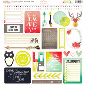 Finnley Titles & Accents 12 x 12 Sticker Sheet - Glitz